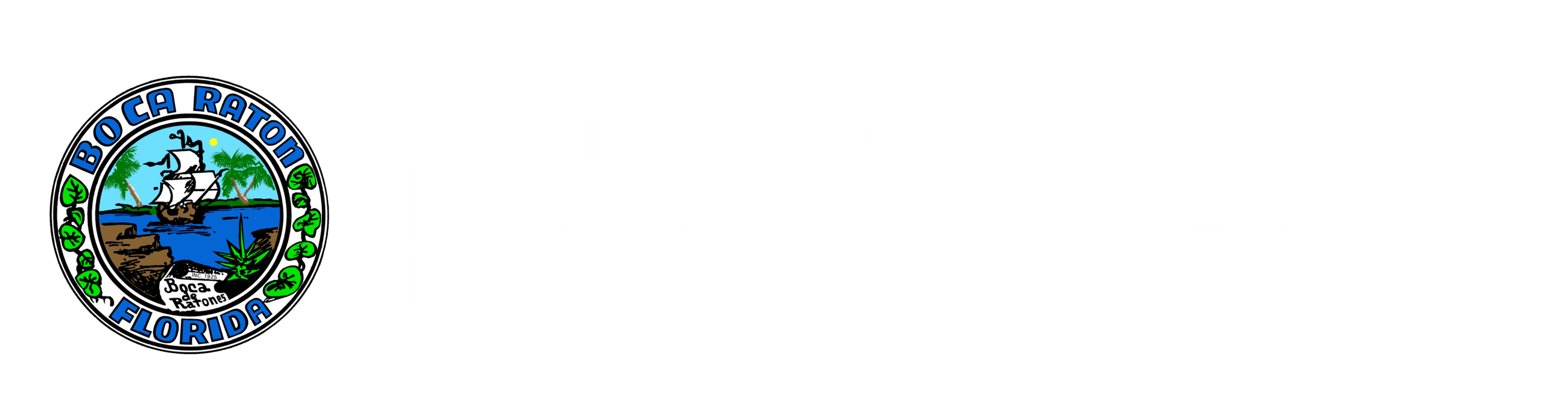 City of Boca Raton with Seal Left - WHITE RGB